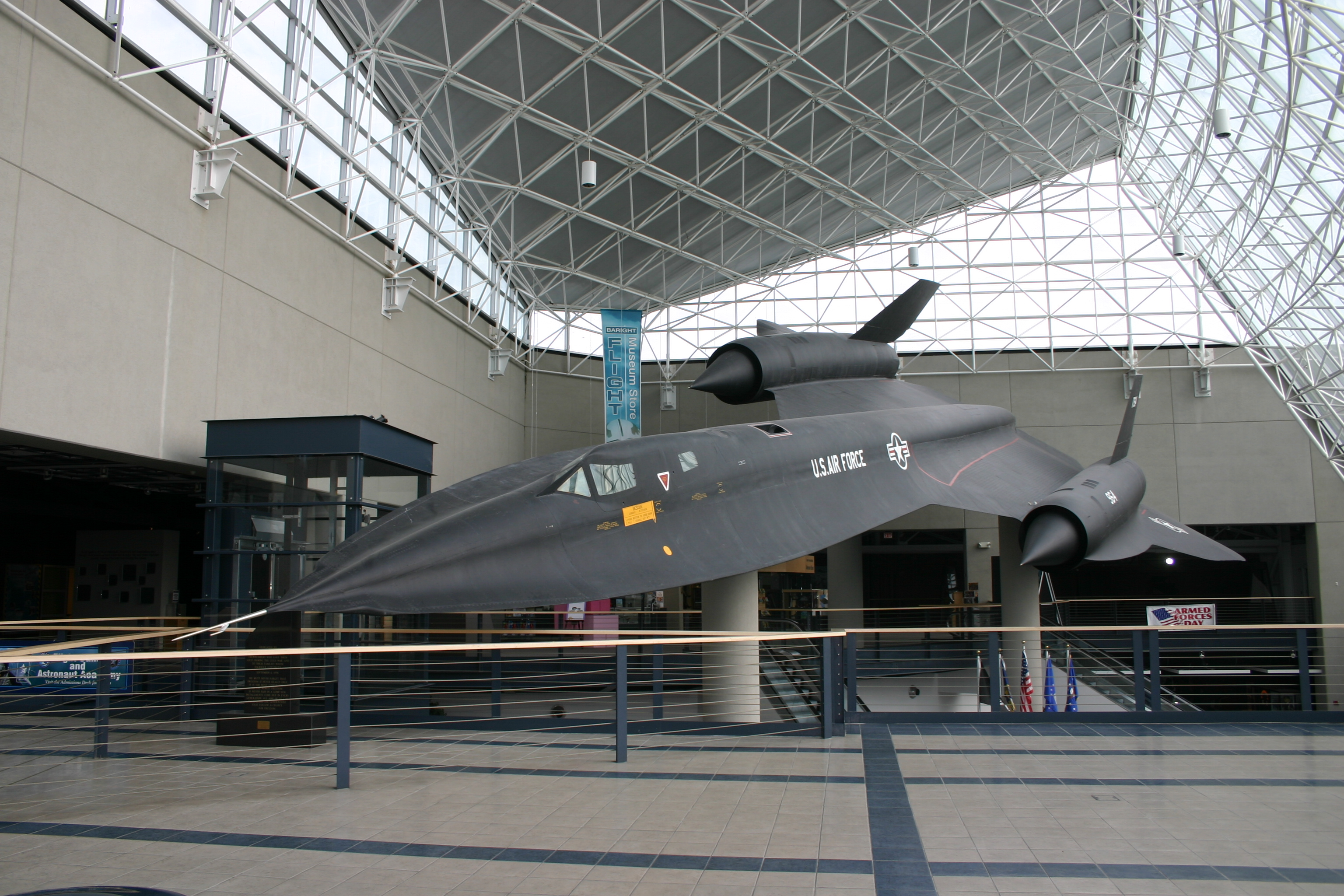 Ironically, the only SR-71 I've ever seen in person was in Nebraska. It's mounted in the lobby of the Strategic Air Command Museum.