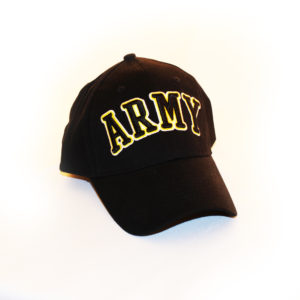 Army 3D Text Black Hat