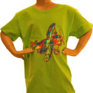 Green Chalk Biplane T-shirt