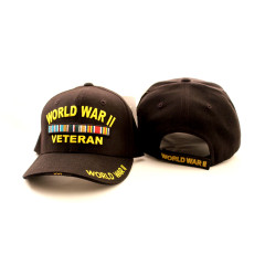 World War II Vet. Black Hat