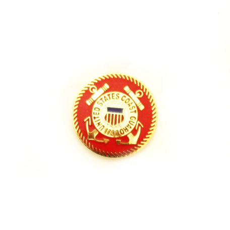 Coast Guard Lapel Pin Gold