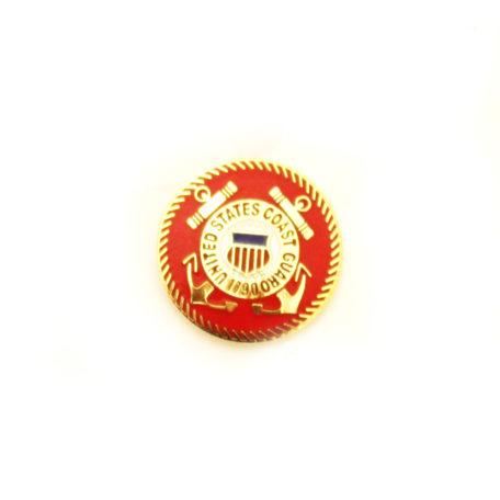 Coast Guard Lapel Pin Gold
