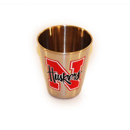 Husker Shot Glass Stainless