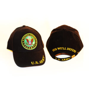 Army Round Logo Black Hat