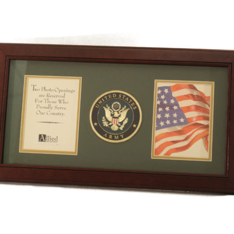 us army medallion dual picture frame - Dual Picture Frame