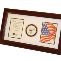 US Navy Medallion Dual Picture Frame