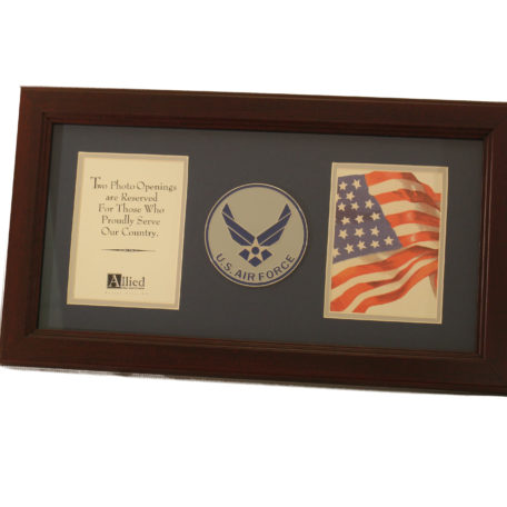 Us Air Force New Logo Medallion Dual Picture Frame Strategic Air