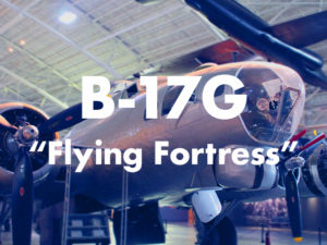 B-17 aircraft with text