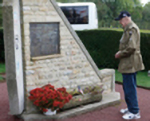 Mauser pays tribute to comrades who died at crash site memorial in Normandy 2010